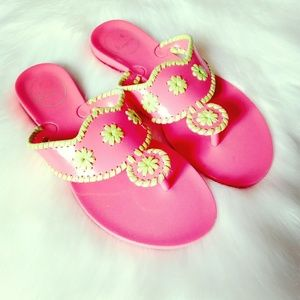 Jack Rogers | Pink Georgica Jelly Sandals